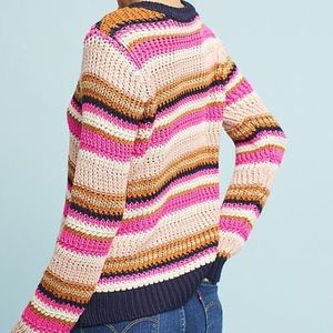 NWT Anthro MOTH Cate Striped Knit Sweater